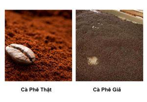 phân biệt cà phê bột tạp chất
