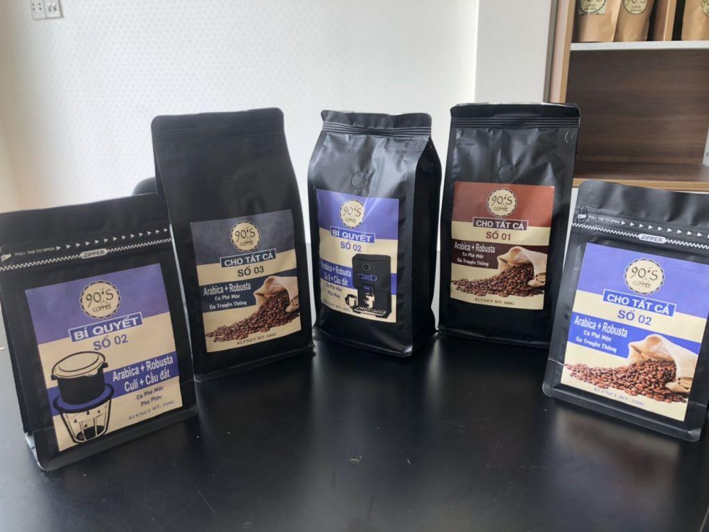 Cà phê giá sỉ nguyên chất cho quán cafe của 90S Coffee