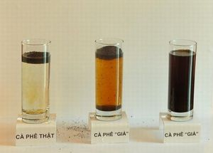 phân biệt cà phê tạp chất