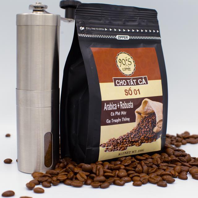 cà phê rang xay nguyên chất cho tất cả 90s coffee