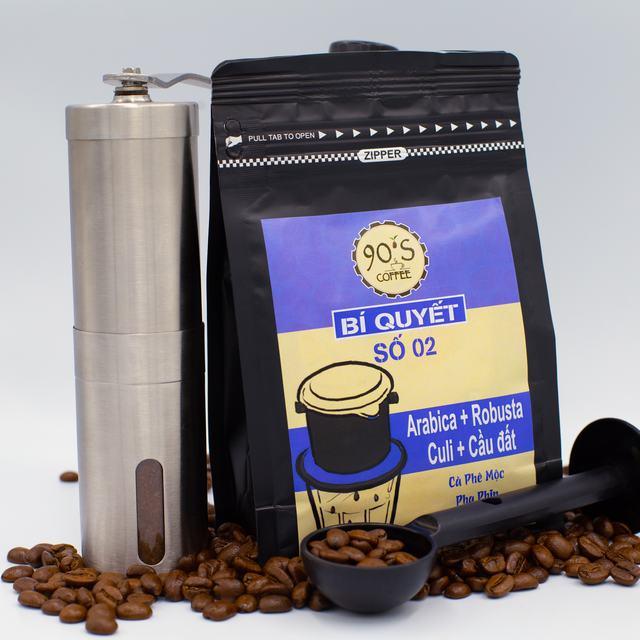 Sản phẩm cafe hạt rang xay nguyên chất của 90S Coffee