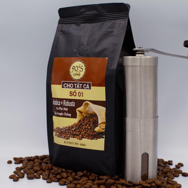 Cà phê sạch rang xay nguyên chất 100% của 90S Coffee