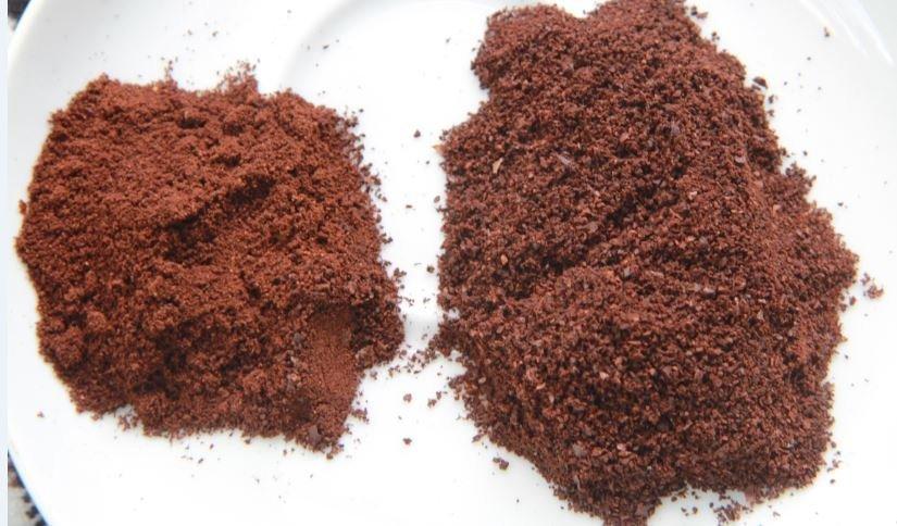 Cà phê hạt nguyên chất sau khi rang xay
