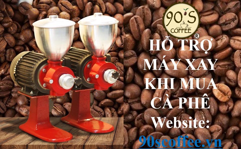 hỗ trợ máy xay cà phê nguyên chất
