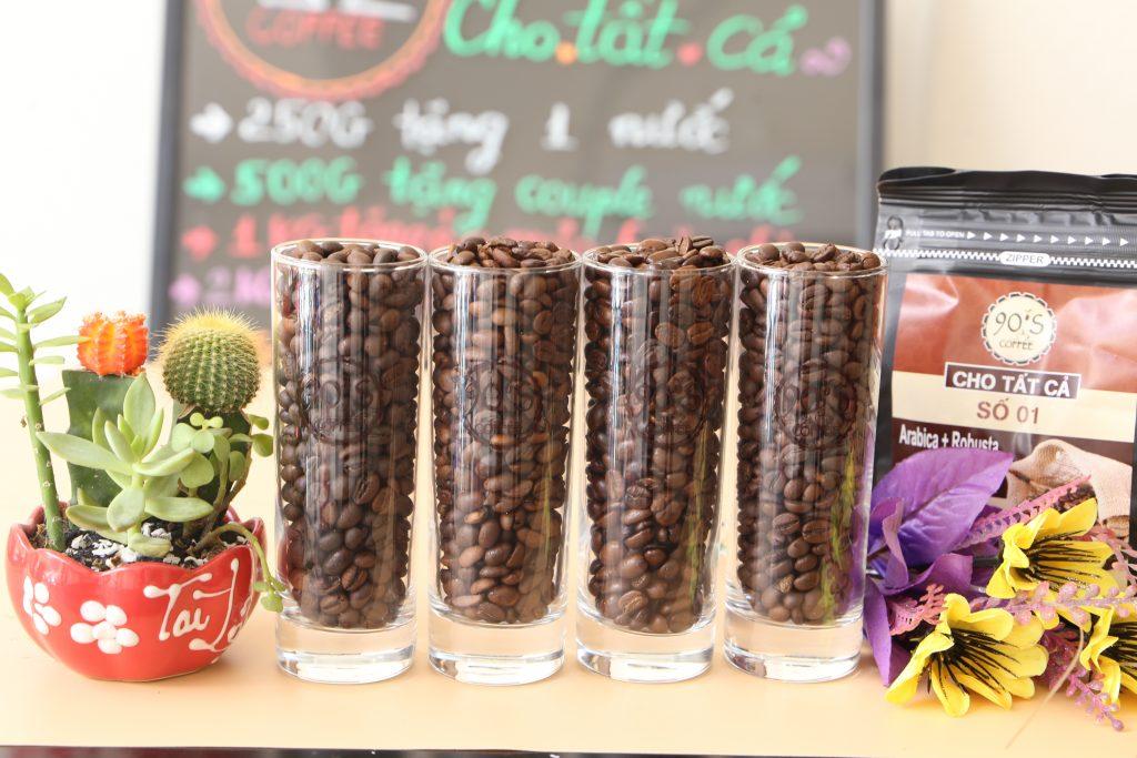 Giá các loại hạt cafe hiện tại là bao nhiêu?
