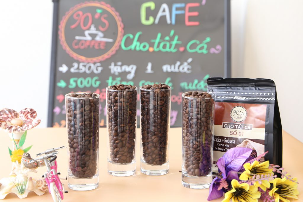 cà phê rang mộc nguyên chất - cafe sạch 90scoffee