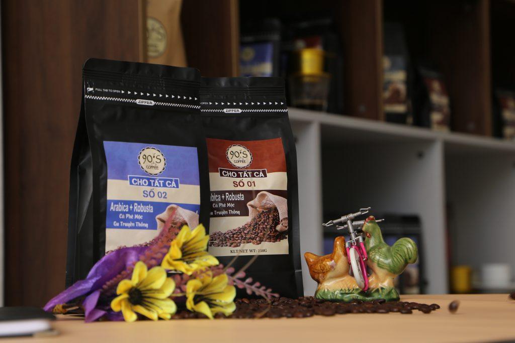 cà phê nguyên chất rang mộc culi robusta
