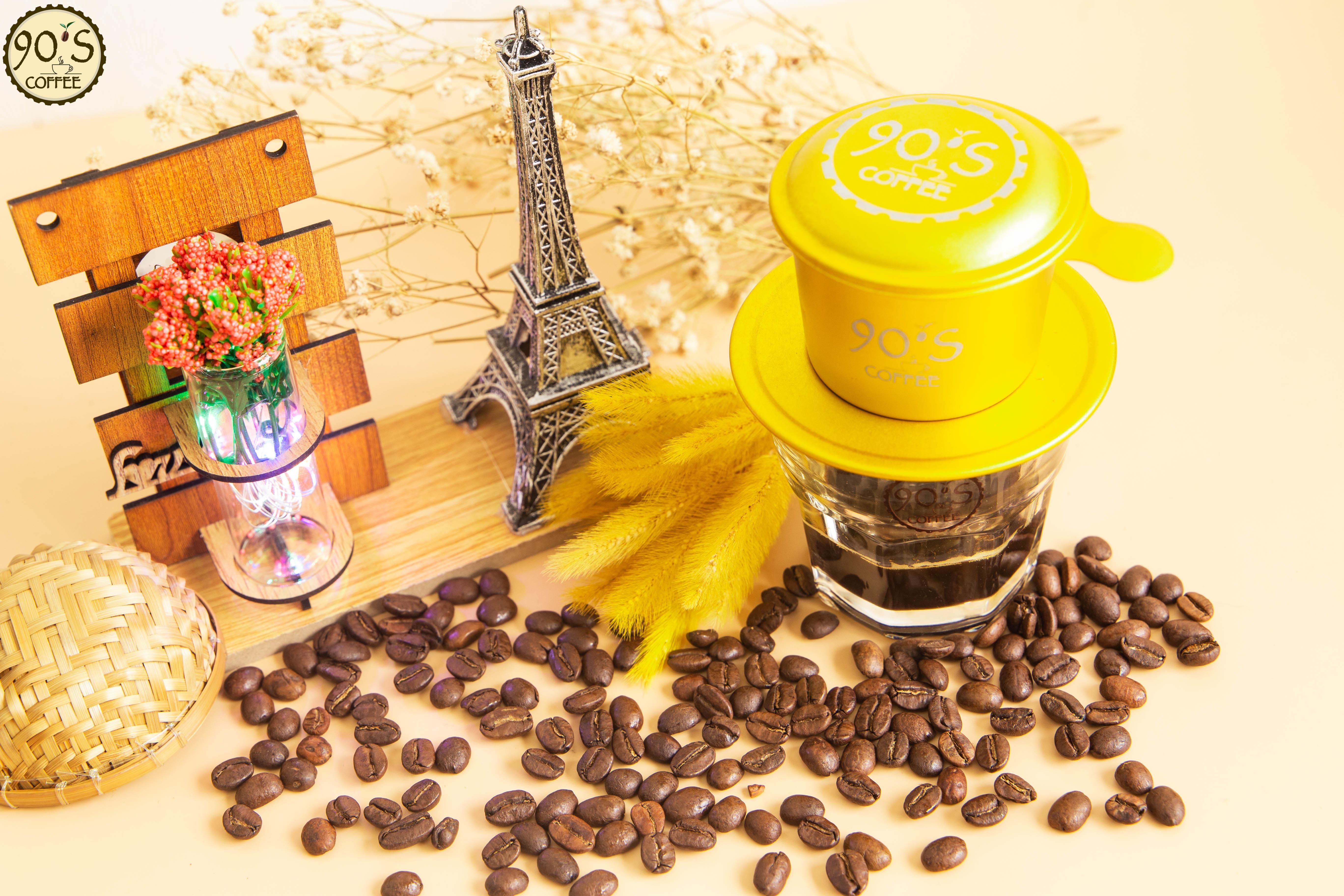 Cafe 90s coffee hạt rang mộc