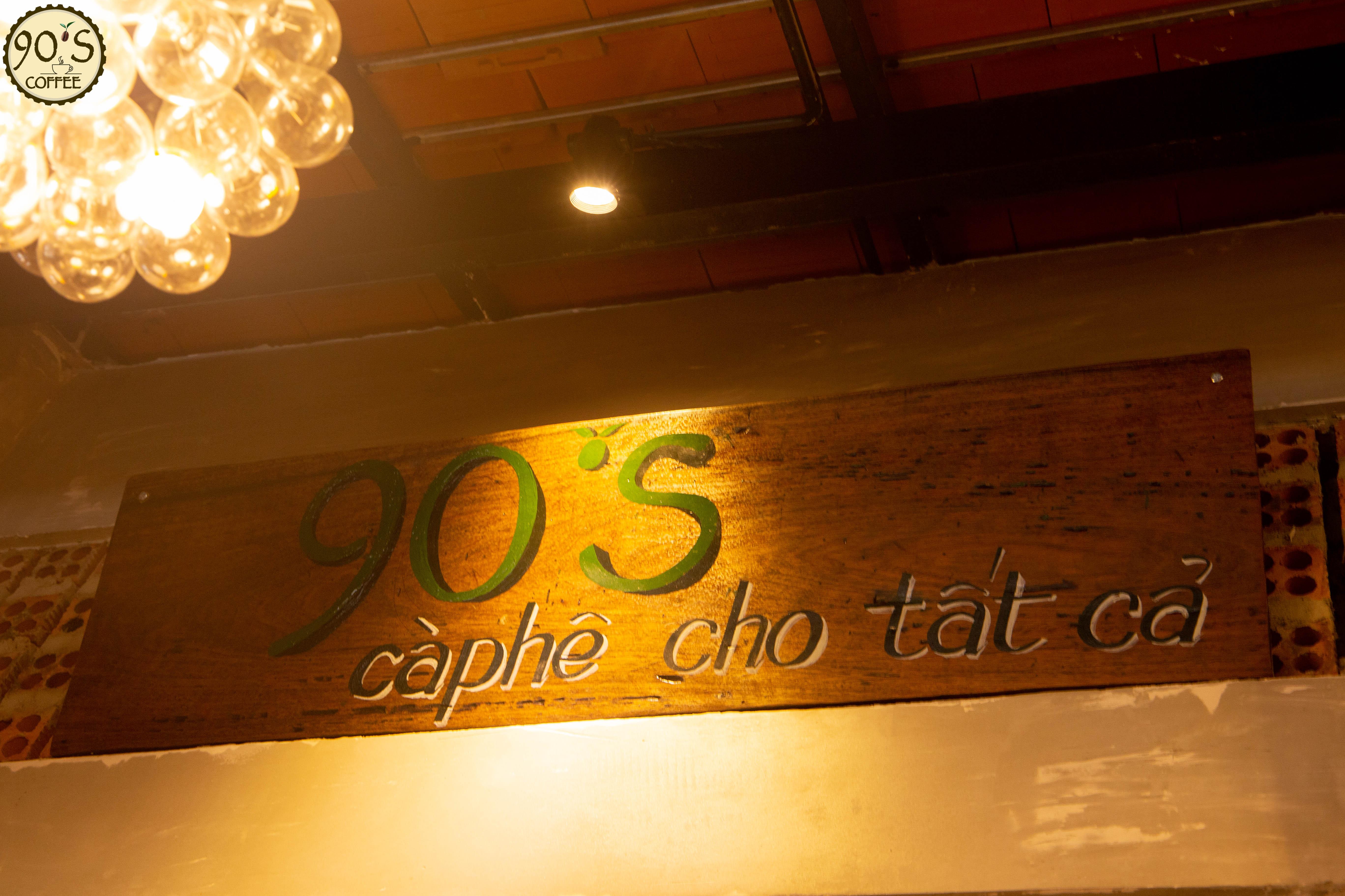 Phong cách quán cafe 90S Coffee