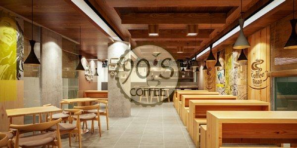 Sử dụng các loại bóng đèn tròn vàng để trang trí quán cafe thêm sang trọng