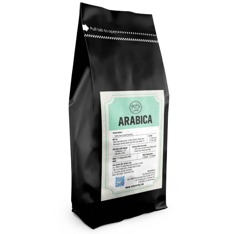 Cà phê hạt Arabica 100% rang mộc nguyên chất