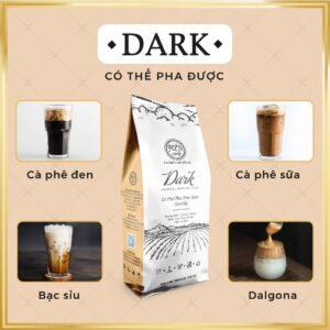 Cà phê rang xay nguyên chất pha phin DARK