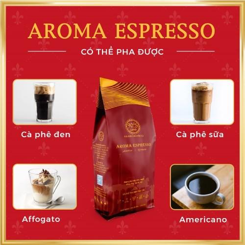 Cafe rang xay cao cap aroma espresso pha duoc rat nhieu loai cafe