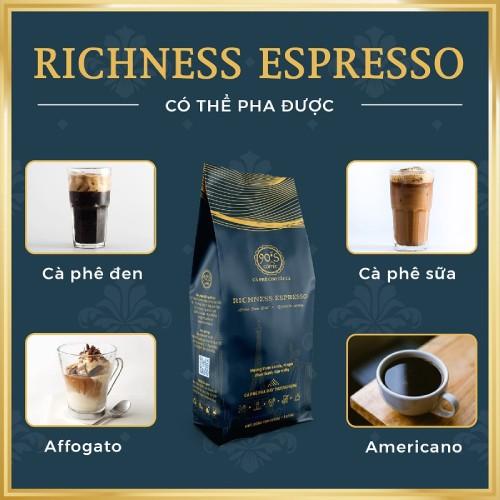 Cafe rang xay cao cap richness espresso pha duoc rat nhieu loai cafe