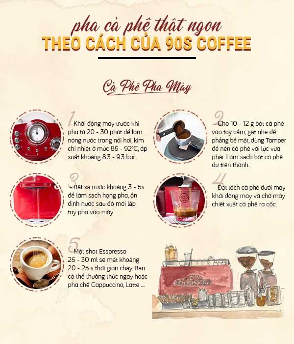 Cách pha cà phê bằng máy pha cà phê chuẩn nhất