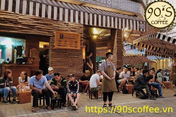 khu D2 Binh Thanh tap trung dong cac quan cafe coc