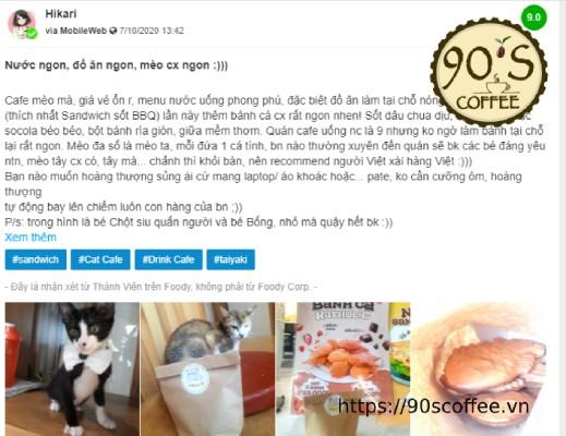 feedback ve chat luong va dich vu tai quan cafe thu cung