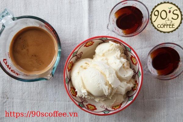 Nguyen lieu tao nen cafe Affogato chuan vi