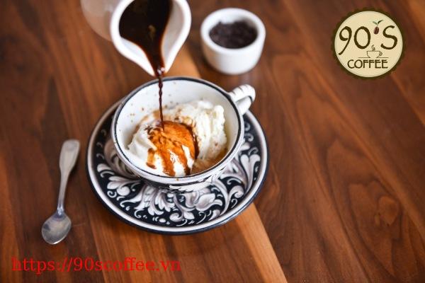 Cong thuc hoan hao cho mot ly cafe Affogato hien dai.
