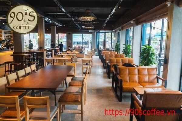 Phong cach thiet ke quan cafe phu hop voi nhan vien van phong.