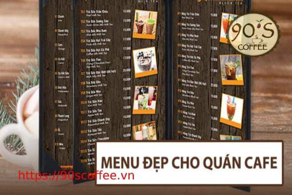 menu do uong quan cafe duoi hinh thuc dong tap