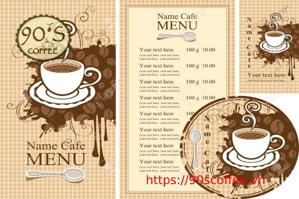 tong mau nha nhan trong thiet ke menu quan cafe