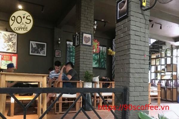 khong gian quan cafe milano