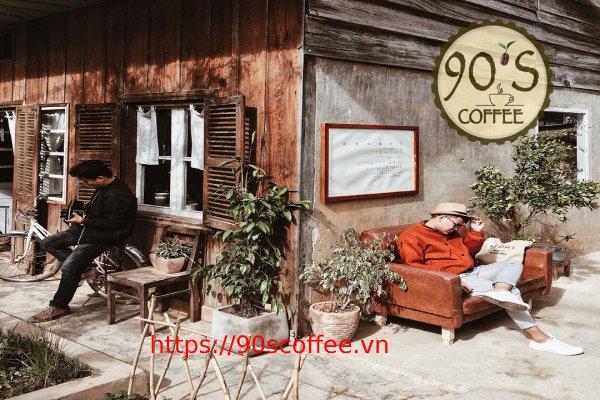 mo hinh cafe san vuon theo phong cach vintage