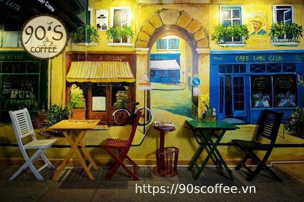 trang tri tuong quan cafe