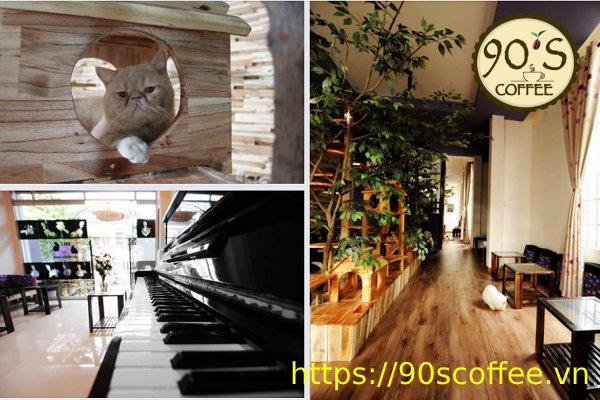 khong gian quan cafe ailu cat house coffee