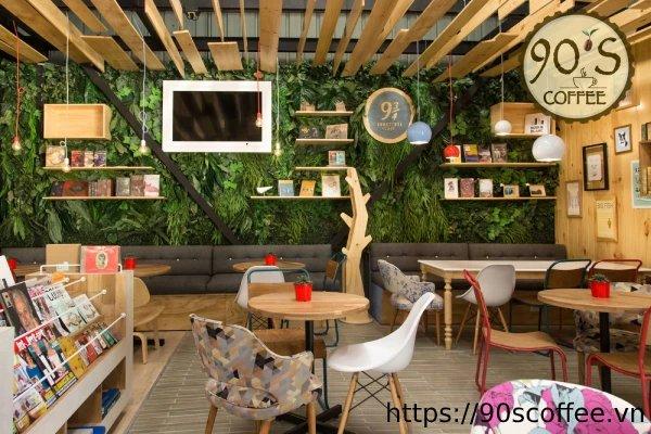 Trang trí tường cafe ấn tượng
