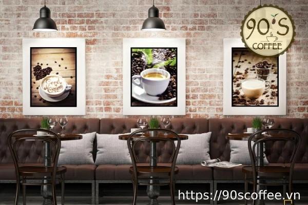 Y tuong phong cach tuong cafe retro