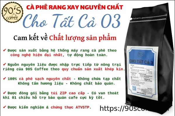 cac san pham ca phe rang xay nguyen chat tai 90s coffee