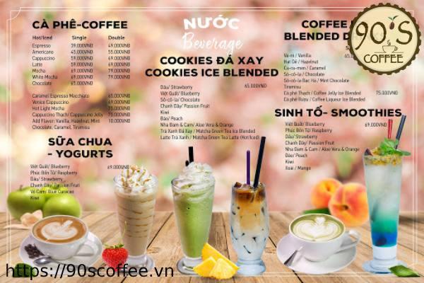 Phong cach menu hien dai nhieu mau sac.