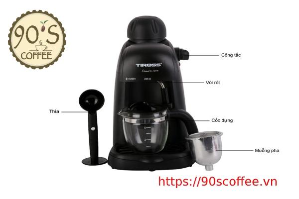 may pha ca phe espresso tiross ts620
