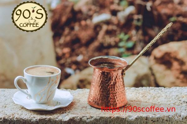 ly ca phe turkish coffee chuan phong cach tho nhi ky